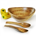 Conj. Para Servir Em Bambu Veneza - 3 Pçs - 4,0 L - icj-40773