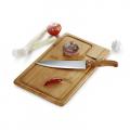 Conj. Faca e Prancha em Bambu Texas - 2 Pçs - imb-04083