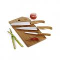 Conj. Faca E Prancha Em Bambu Oregon - 4 Pçs - imb-20643