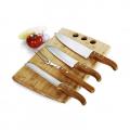 Conj. Faca E Prancha Em Bambu Calofórnia - 5 Pçs - imb-21663