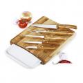 Conj. Para Cozinha Em Bambu Arizona - 7 Pçs - imb-23153