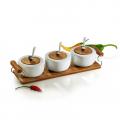 Conj. De Potes Em Bambu Ravenna - 7 peças - iPO-03103