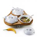 Conj. Para Servir Com Base Em Bambu Florença - 7 peças - iPO-03903