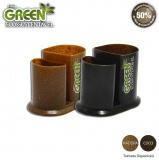 Porta Lápis Duo Green Coco ou Madeira